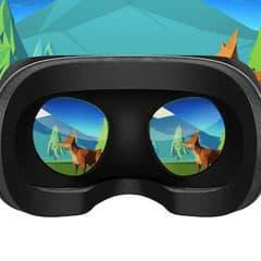 Virtual reality headgear view of sample vr video Virtual Reality reporter